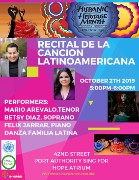 RECITAL DE LA CANCION LATINOAMERICANA